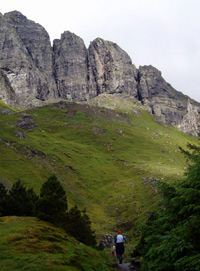 En route to the Old Man of Storr