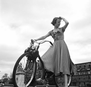 Cycling damsel. Photo from LIFE archive